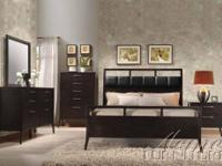 Boardwalk Wenge PU Finish Queen Size Bedroom Set Item
