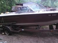 1984. invader 18 foot boat and trailor. .has a Volvo