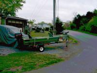 12 ft. sears gamefisher with new transome 96 merc. 6hp.