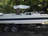 For sale1987 Hurricane deck boat with canopy (Bimini).