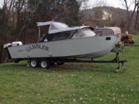 1960 Longstar Cabin Boat, Length 24', Aluminum,