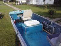 Boat 1973 14 foot FIBERGLASS BOAT.  RICH LINE HAWK AND