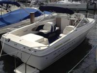 "1985 14"" Bayliner Capri with 50 HP Force Outboard,"