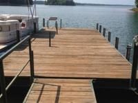 32ft walkway with hand rail. dock is 112x28 with swim