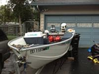 1993 Lowe boat for sale, 16.5 feet center counsel