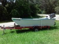 BOAT - 10' Inverted V very stable. MOTOR - 6 HP  -