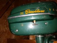 Brooklure 300 small boat or canoe motor. Has good