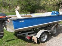 Description 1984 Blue Fin boat with 15 hp Mariner
