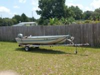 14 ft Aluminium Polar Kraft Boat with 6 H.P Evinrude