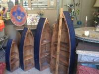 Set of 4 wooden boat shelves $350 call  or text  Terry