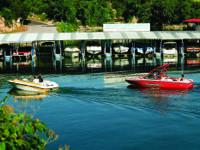 Covered 22' x 11' boat slip at Briarcliff Marina