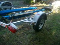 Boat trailer that had a 15.5 ft Skeeter bass boat on