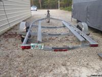 This galivanized 19 foot boat trailer is in good