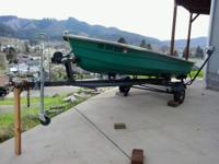 14' Fiberglass boat with trailer, no motor, 3 benches,