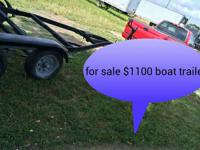 Newly reconstructed 20 ft Sportsman boat trailer.
