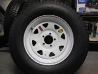 st205/75/d14 tire only $69,   5lug white spoke $89,