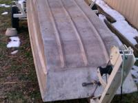 14ft flat bottom boat-no tiltle. Trailer with title.