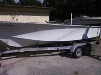 boat(16.5 ft)t and trailor for sale has an open tittle