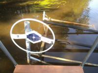 Shore Station, boat lift, model SSV1288, 1200# cap,