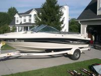 2004 Sea Ray Sport 180, with trailer. Less than 100