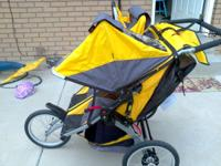 This is THE jogger's stroller. It has a hand brake