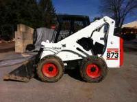 bobcat 873 skid steer loader, the 873 is the best