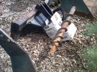 BOBCAT AUGER ATTACHMENT WORKS GOOD, COMES WITH ONE BIT,