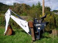 Bobcat backhoe attatchment for Bobcat skidsteer.