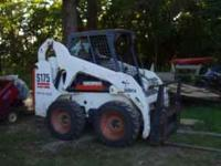 Bobcat S175 w/bucket & forks 1400 hrs new tires  or