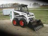 642b bobcat skid loader runs great good rubber and