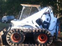 bobcat skidsteer, model 873, 73.5 diesel, has rubber