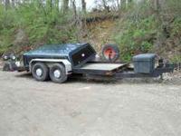 10,000lb Cronkite 16 foot Bobcat trailer; surge brakes;