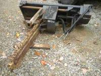 Up for sale is a bobcat trencher attachment for skid