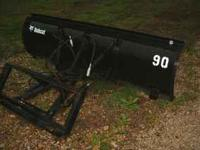Snow plow for a bobcat or any uniloader with the quick