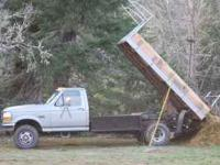 I have a nice low hour machine, a 1 ton 4x4 dump truck,