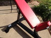 Bodymaster Adjustable Slope Bench. It is a commercially