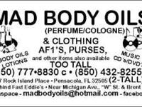 COME SEE US BEHIND FAST EDDIE WE HAVE BODY OILS FOR THE