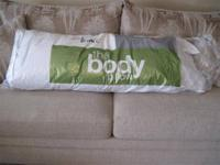 Body Pillow - (New) - JC Penny Brand -- Medium Firm -