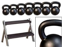 Body Solid 5-35lb. Kettlebell Package and Rack - New w/