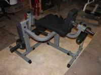 body solid leg lift/extension machine. takes olympic