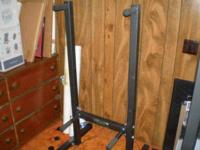 "BODYSMITH Dip Station measures approximately 54"" x 28"""