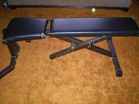 Incline/decline weight bench. Some damage to the