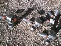 Several Bogen tripod heads, three are almost brand new,