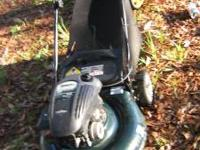 "Bolens 21"" 5.5HP Lawnmower with Bagger. The bag has"