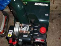 BOLENS BLOWER 5 HP 21 INCH CUT LOOKS AND RUNS EXCELLENT
