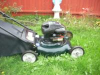 PULL AND RUNS GREAT ~ THIS IS A VERY NICE LAWN MOWER
