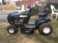 This mower has 13.5 HP, 500CC, 38 in. deck, 6-Speed