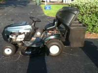 "Bolens 38"" Twin Blade riding lawnmower. Used less than"