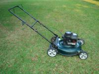 THIS IS A GOOD USED MOWER....HAS A 4.5 HP BRIGGS &