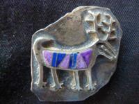 Sterling silver bolo tie clasp with semiprecious